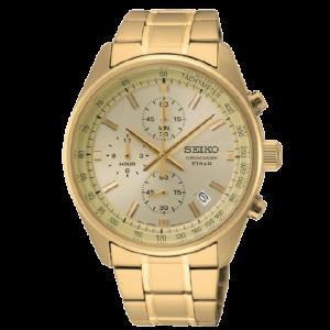 Seiko Chronograph Analog Beige Business Quartz